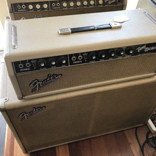 1964 Fender Blond Bandmaster Head and cab
