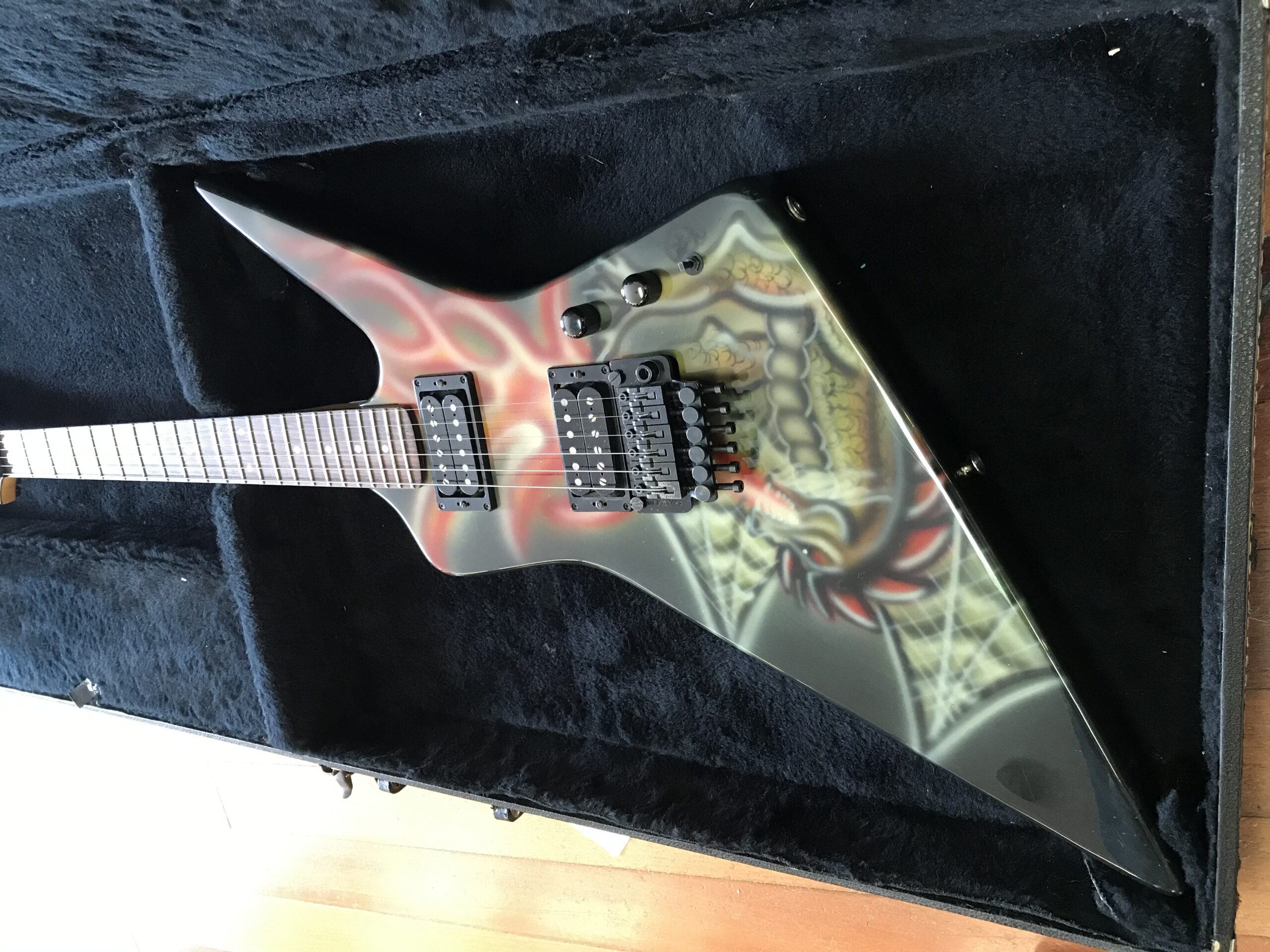1985 USA Kramer Condor with early Kline Fantasy Dragan Graphics