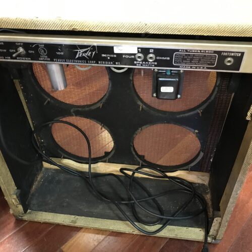 1973 Peavey Classic tweed 4×10 project