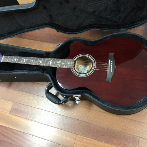 2016 PRS A10E Acoustic cutaway with hard case