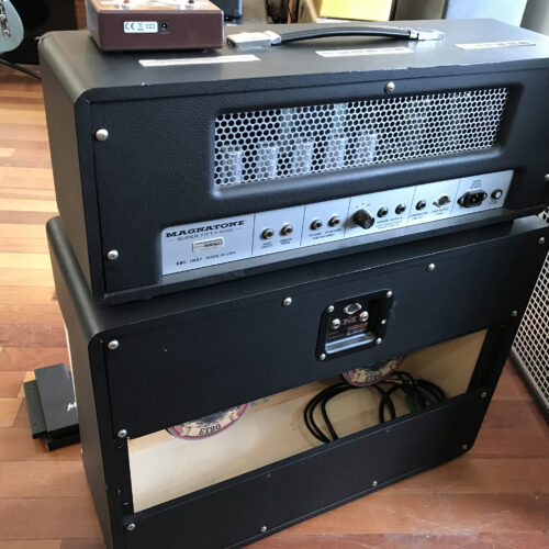 Magnatone Super 59 Head and 2X12 Cab played and signed by Billy Gibbons