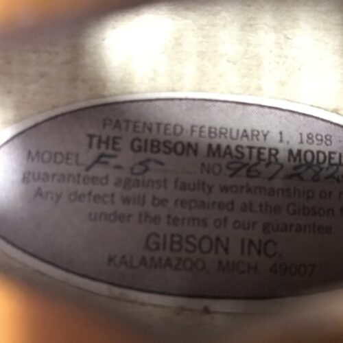 1976 Gibson F5 mandolin