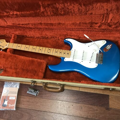 1987 Fender 57 reissue Stratocaster awesome color Blue