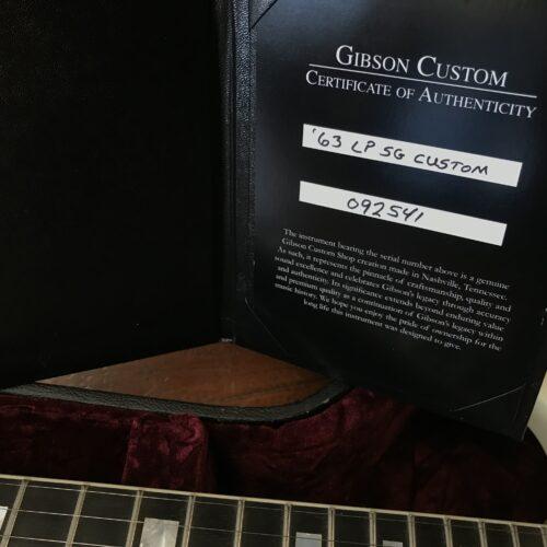 2020 Gibson Custom Shop 63 Les Paul SG Custom