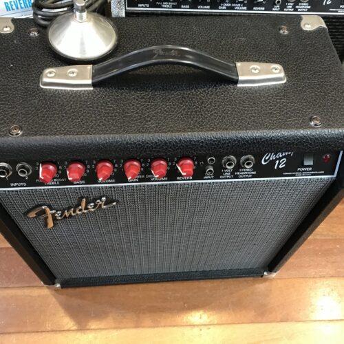 1988 Fender Champ 12 red knob tube amp